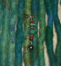Un DREADLOCK Perle Bell Dread bijoux bijoux de cheveux poignet charme bohème Dangle