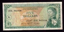 East Caribbean Banknote, $5 Dollars , 1965 Year , Xf