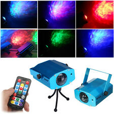 Remote RGB LED Water Wave Ripple Effect Stage Light lighting for Party DJ Show