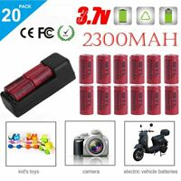 20X 3.7V 2300Mah Rechargeable Li-Ion Battery16340 CR123A+Charger For Arlo Camera