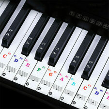 Removable PVC Piano and Keyboard Stickers For 49 61 54 88 Transparent 1 Sheet