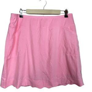 Jofit Golf Skirt Pink Size L Pull On Pockets Skort Stretch Scallop Hem