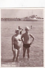 1965 RARE Nude muscle man woman on beach gay interest Russian Soviet photo