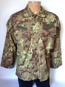 Italian Army Genuine Issue Vegetato Camo Combat Shirt Ripstop, Size 46 TG 3 New