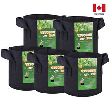 VIVOSUN 5 Packs 3 Gallon Black Fabric Pots Grow Bags Root Planters with Handles