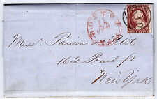 "#26A-3 Cents 1857, 81R11e, ""BOSTON 15 FEB MASS."" FLS - Parsins & Petit, NYC 1858"