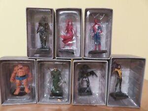 lot de 7 figurines marvel en plomb