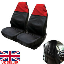 2xUniversal Waterproof Heavy Duty Car Van Seat Front Covers Protector Bucket RED