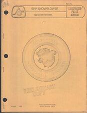 1972 ARCTIC CAT 5 HP SNOWBLOWER TECUMSEH PARTS MANUAL  (595)
