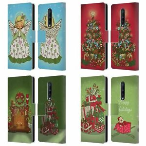 HEAD CASE DESIGNS CHRISTMAS ESSENTIALS LEATHER BOOK CASE FOR ONEPLUS PHONES