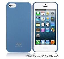 iShell Steel Blue Classic S3 Snap-On Case + Screen Protector for iPhone 5
