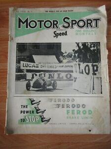 MOTOR SPORT incorporating Speed magazine September 1947 BRDC ISLE OF MAN RACES