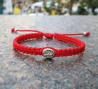 Catholic Bracelet Guardian Angel / St Michael Archangel Medal - Adjustable Cord