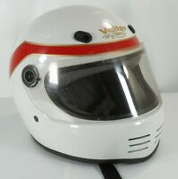 Vintage Bell Vetter Motorcycle Helmet Full Face Red White Size M/L