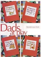 FATHER'S DAY CARDS  -     CROSS STITCH PATTERN  ONLY    R17M1