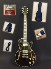 Haze Semi-Hollow Body 239BK Electric Guitar,LP Style+Free Gig Bag-Full Kits