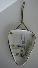 50er 60er alka Kunst Wandbild Idyll Jagdmotiv Hochstand Wald Porzellan Vintage