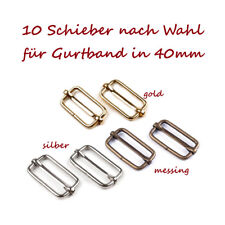 10 Taschenschieber 40mm Metall Schieber Schnalle Gurtversteller Regulator