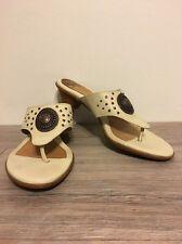 Women's Cream/Bronze Sofft Sandal Heels, Size 8 1/2M, Super Cute!