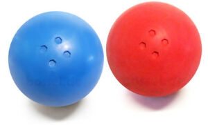 Boßelkugeln, Boßeln, Bosselkugeln, Bossel,  Ostfriesensport, rot/gelb