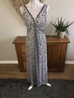 Fat Face Ladies Navy Blue Floral Maxi Dress Size 12