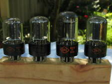 CBS 6SN7GTB 6SN7GT 6SN7 black plate strong matched quad D getter used tubes