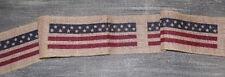 Americana Flag Star Burlap Ribbon Rustic Country Primitive 72 x 4 Wreaths