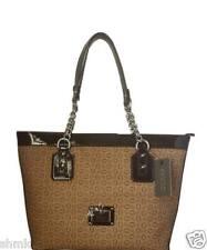 GUESS Handbag RIa Satchel Brown w/ G Logo Shoulder Bag $108