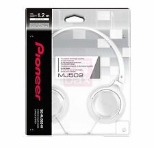 Brand New Pioneer SE-MJ502T-W Dynamics Stereo Headphone - White for Smartphones