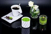 Teelichtglas Kerzenständer Blumenvase aus Porzellan Weiß Teelichthalter 6,5cm