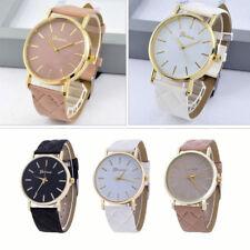 Womens Girls Watch Geneva Smart Leather Fashion Wrist Watch Analog Quartz Gift