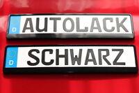 2  Kennzeichenhalter  schwarz  hochglanz mit  Autolack lackiert NEUHEIT !