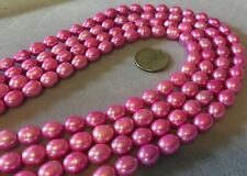 "16"" Strand 7x9mm  FUCHSIA PINK Large FRESHWATER PEARLS - So Pretty!"