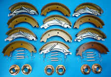 Triple Axle Set Brake Shoes & Hub Nuts for 200x50mm Knott Ifor Williams Trailer