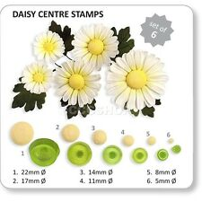 PME JEM Daisy Centre Stamps Set of 6 Cutters for Cake Decorating Sugarcraft
