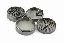 4 Piece Magnetic 2.5 Inch Black Tobacco Herb Grinder Spice Zinc Alloy With Scoop