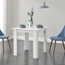 [en.casa] Esstisch Küchentisch Esszimmertisch Speisetisch Tisch Weiß 80x80cm