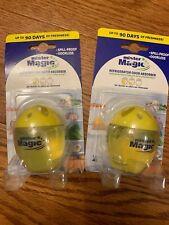 2 Pack! Mister Magic Refrigerator Odor Absorber Lemon 3 Months Each
