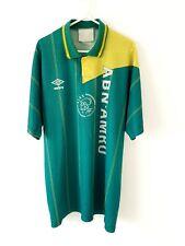 Ajax Away Shirt 1991. XL. Original Umbro. Green Adults Amsterdam Football Top.