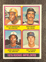 1976 Topps Willie Randolph McKay Royster Staiger #592 EX-NM Rookie RC Pirates