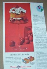 1961 print ad - Dolly Madison Cakes strawberry shortcake dessert advertising