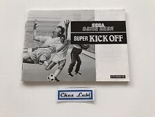 Notice - Super Kick Off - Sega Game Gear - PAL EUR