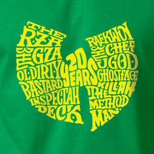 RZA GZA Wu-Tang Clan 20 Years T-Shirt Old School Hip Hop on Ring Spun Cotton Tee