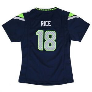 Sidney Rice Seattle Seahawks Nike Home Navy Blue Jersey Girls Youth (S-XL)