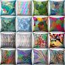 IG_ KE_ 18'' Colorful Leaves Sofa Cushion Cover Throw Pillow Case Home Decor Sur