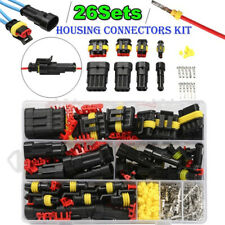 1/2/3/4/ Pin Way Sealed Waterproof Electrical Wire Connector Plug Car Auto Set