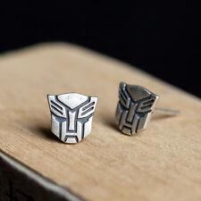 New Style Men Women Transformers tyrants Solid 925 Sterling Silver Stud Earrings