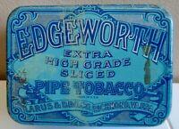 "VTG EDGEWORTH EXTRA HIGH GRADE SLICED PIPE SMOKING TOBACCO Tin Can- 4.5 X 3.25"""