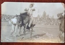 VTG W.S. BOWMAN PENDLETON BLACK & WHITE PHOTO POSTCARD THE ROUND UP RODEO