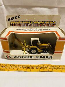 Ertl Tractor Mighty Movers Backhoe Loader 1:64 Vintage New